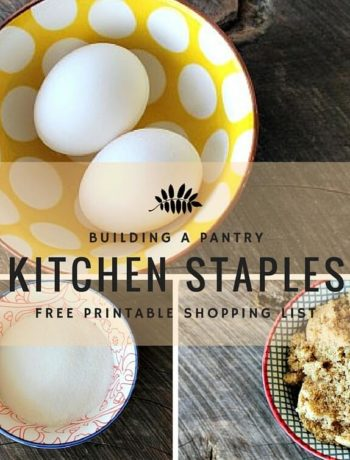 Do you get tired of going to the grocery store every day? Stocking your pantry with these kitchen staples is a breeze. Easy free grocery shopping list!