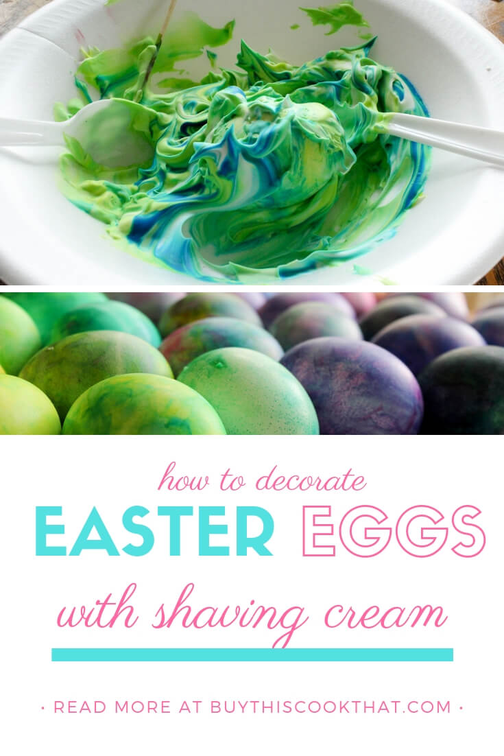 How to Decorate Easter Eggs with Shaving Cream