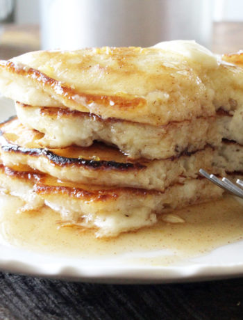 Best Ever Pancakes with Honey Cinnamon Syrup