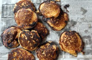 I love these delicious spicy fried cornbread cakes.