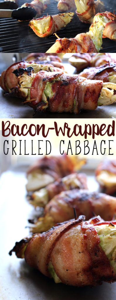 You will fall in love with tis easy recipe for bacon wrapped grilled cabbage.