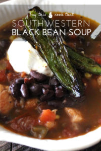Southwestern Black Bean Soup with Roasted Jalapenos