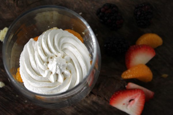Well Hello, Beautiful! Mini Fruit Fluff Trifles have the best of all things dessert: cake, fruit, and cheesecake fluff. Yes, it is totally a thing.