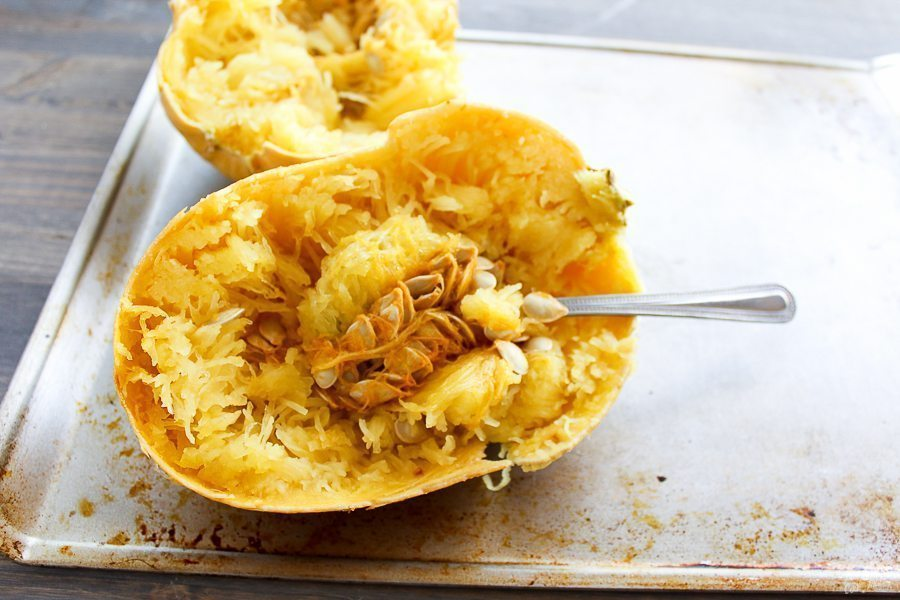 I'm NOT telling you spaghetti squash tastes a damn thing like pasta. It doesn't. Not EVEN close. But spaghetti squash IS delicious, healthy & fun to eat.