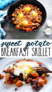 You will love this sweet + savory protein packed Breakfast Skillet.