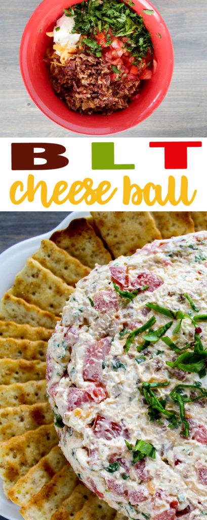 Easy BLT Cheese Ball Snack