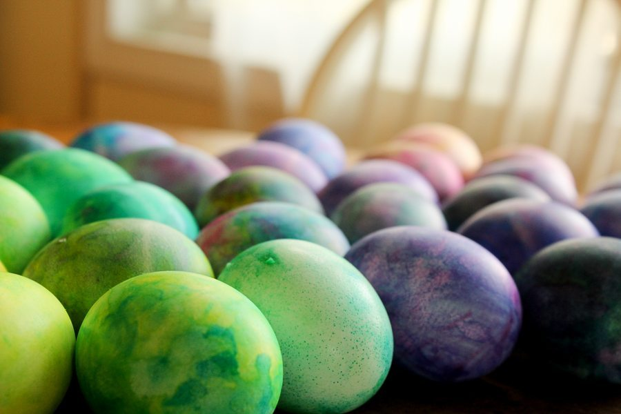 Your new favorite way of decorating Easter eggs. Use shaving cream and food coloring to create gorgeous marbled eggs. BONUS: fun with the kids!