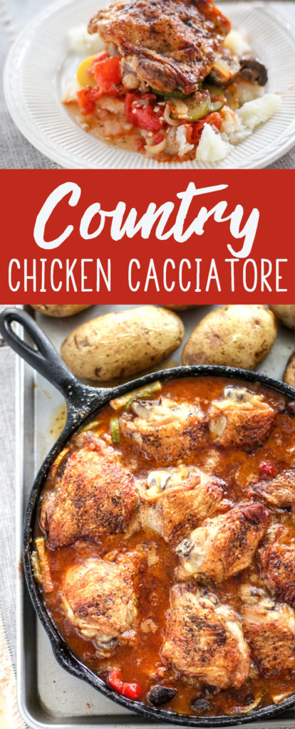 Country Chicken Cacciatore. Country garden vegetables like fresh zucchini and summer squash, tomatoes, and white wine create a flavorful stew that is amazing.