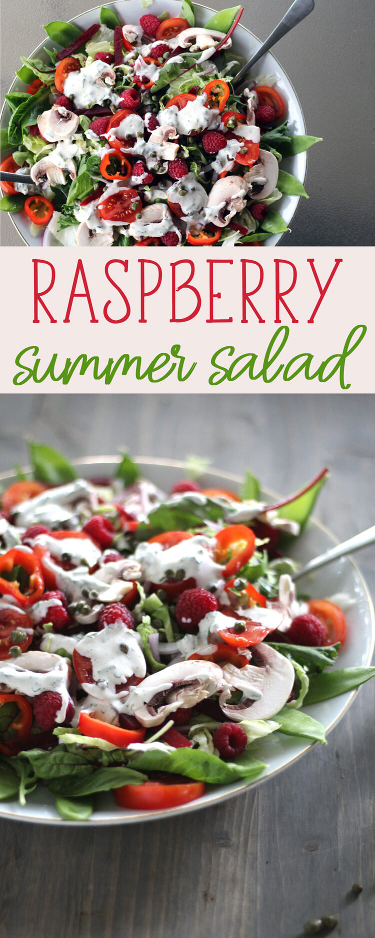 Load your plate with this fit and fresh raspberry Summer Salad.