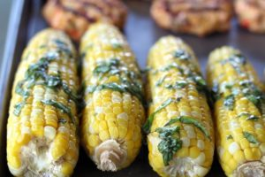 Basil Butter Grilled Corn on the Cob