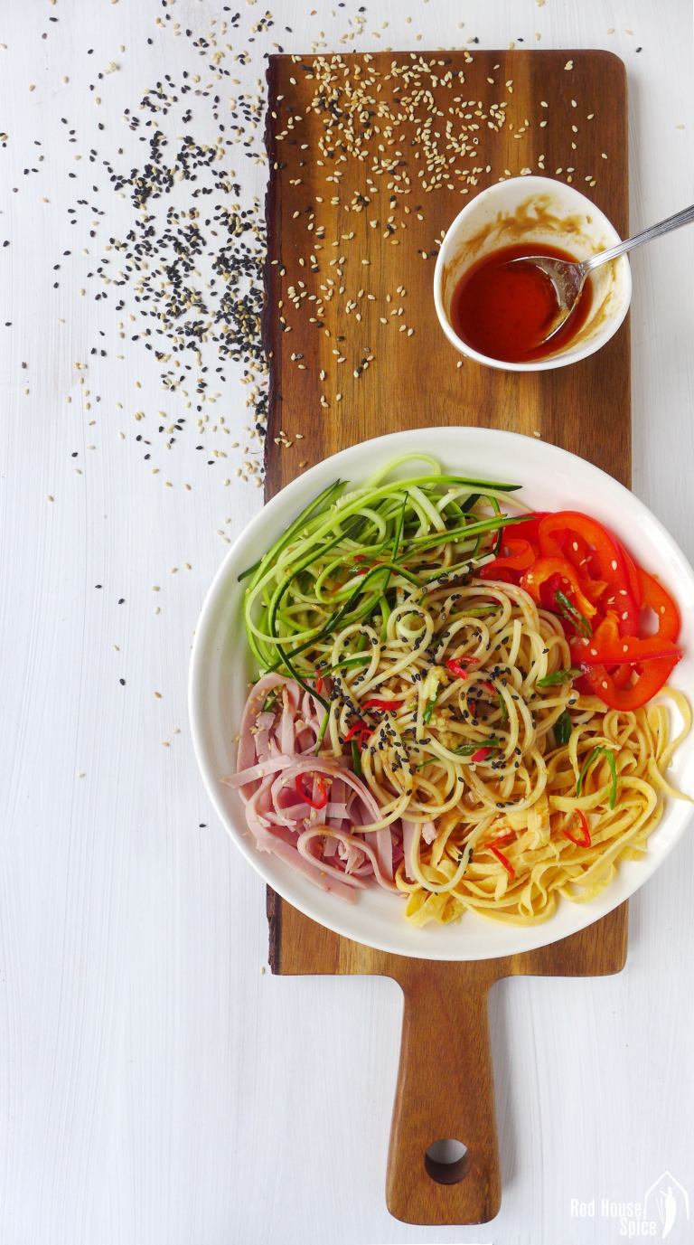 Weeknight Dinner Recipes Chinese Style Spaghetti Salad by Red House Spice