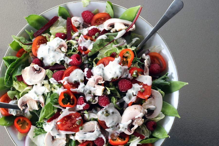 Fit Fresh Summer Salad with Raspberries