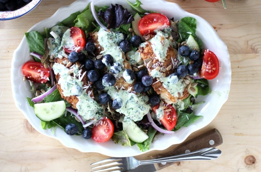You are going to love this tasty and filling fried chicken salad ya'll.