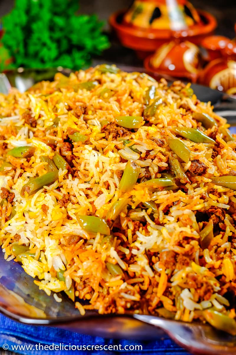 Weeknight Dinner Recipes Persian Lubia Polo Green Bean Rice by The Delicious Crescent