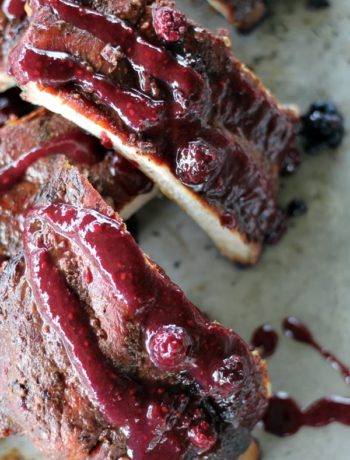 The best damn blackberry BBQ sauce known to ...me.
