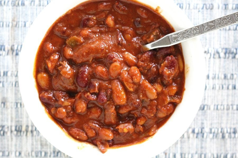 Three Bean Venison Chili