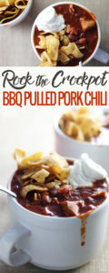 Rock the crockpot tonight with Spicy BBQ Pulled Pork Chili.