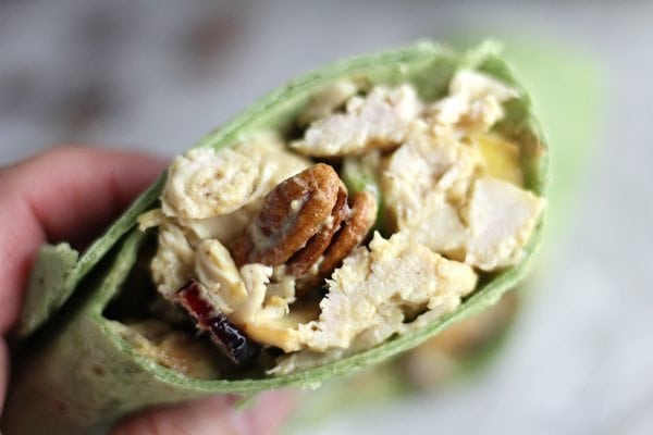 Fresh chicken, crunchy pecans, sweet pears and celery in a homemade honey mustard dressing.