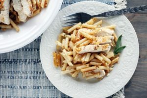 Brown Butter + Sage Chicken Penne Pasta