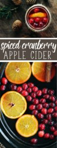 The time is now for our warm + cozy Spiced Cranberry Apple Cider.