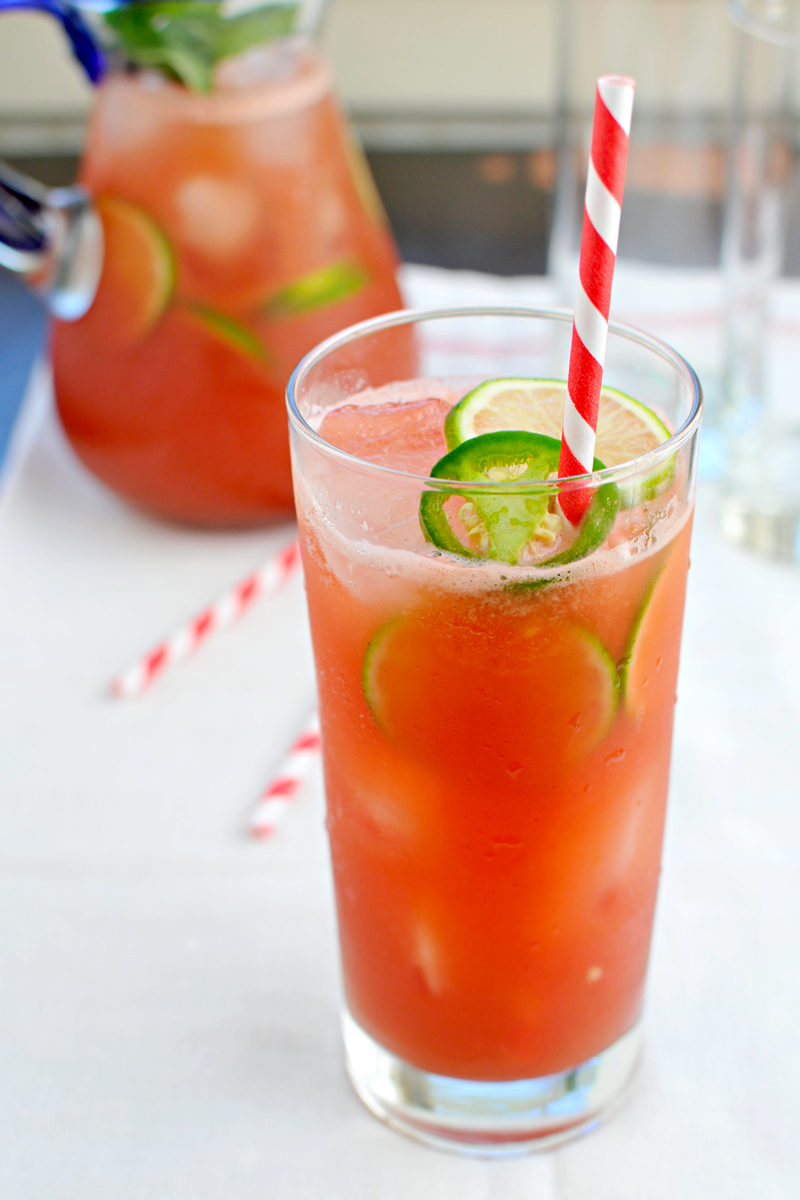 Spicy + sweet mocktail time, ya'll. Loving this watermelon + jalapeno combo.