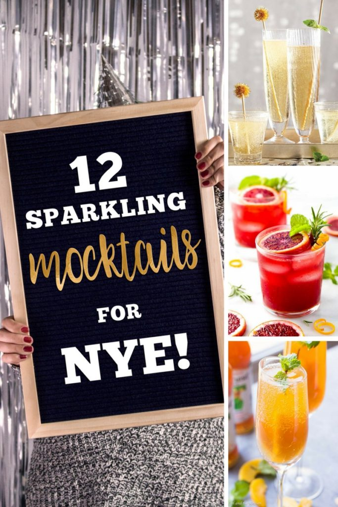 12 Non Alcoholic Sparkling Mocktail recipes for your next party.