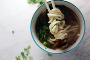 Udon noodles are oh so comforting, the perfect chew, satisfying, and especially yummy in this homemade ginger soup.
