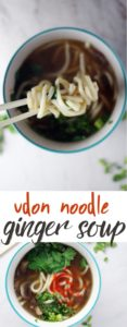 Make this easy ginger soup from scratch with comforting udon noodles.