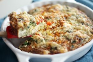 One of my favorite breakfast recipes: Farmer's Baked Omelette.