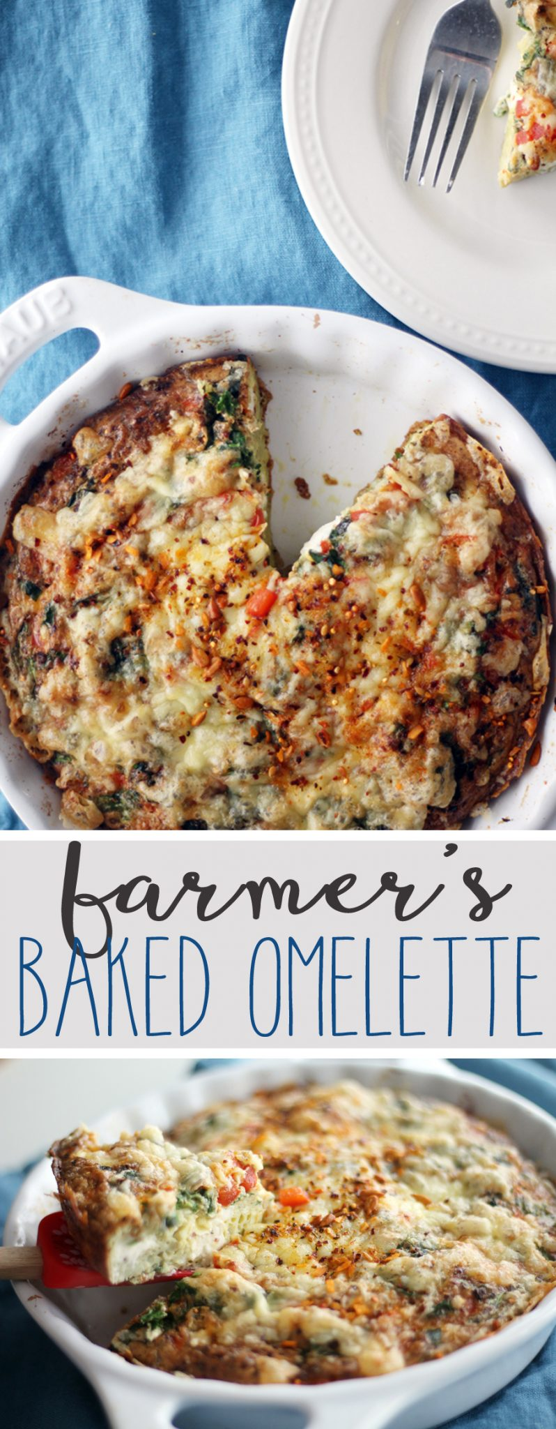 Make your mornings delicious with this easy and filling Farmers Baked Omelette with McCormick Breakfast Toppers.