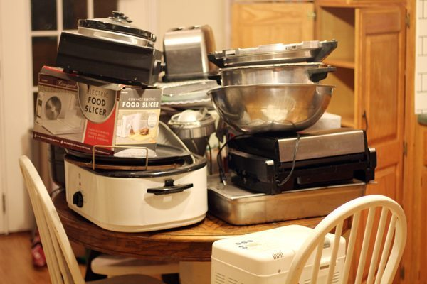 So I may have an appliance problem. And I store them all in my kitchen pantry.