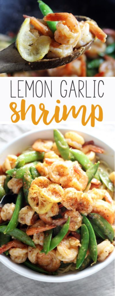 This easy recipe for Lemon Garlic Shrimp will quickly make it to the top of your dinner ideas.