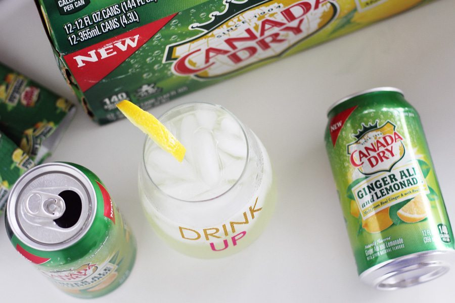 Canada Dry Ginger Ale cans on white background