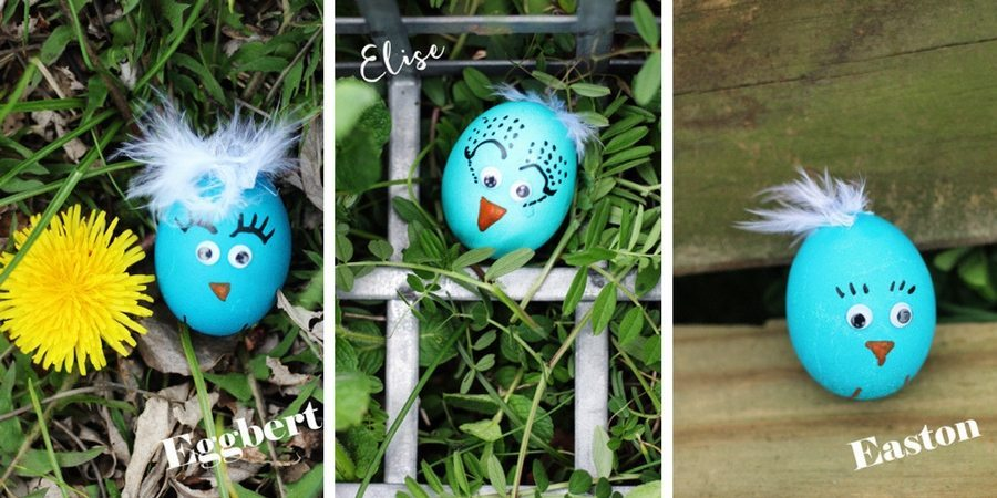 Blue Bird Easter Egg Chicks - Eggbert Elise Easton