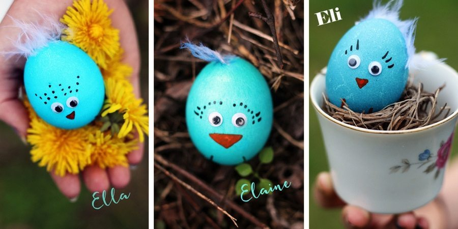 Blue Bird Easter Egg Chicks Ella Elaine Eli