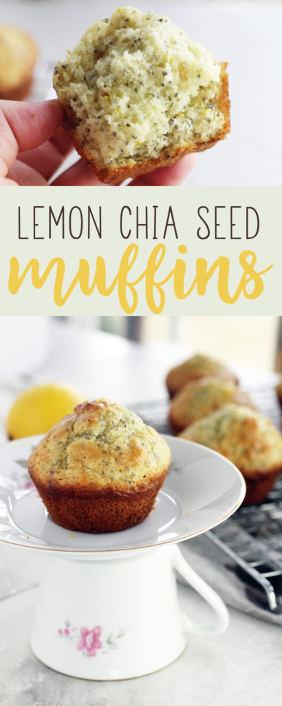 These light + airy Lemon Chia Seed Muffins, light sweet + delightful.