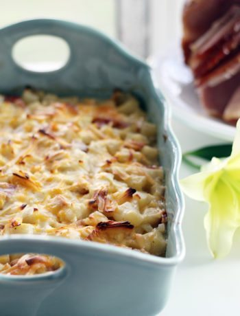 Serve this warm and cheesy potato ham casserole with all of your Easter favorites.