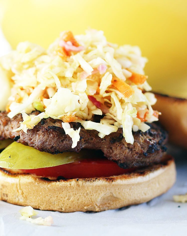 Southern Style Slaw Burgers