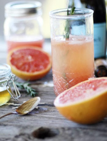 Ruby + Rosemary Prosecco Cocktail