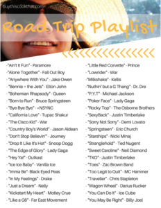 Free Printable Road Trip Playlist - Summer Road Trip - Buy This Cook That Summer 2018