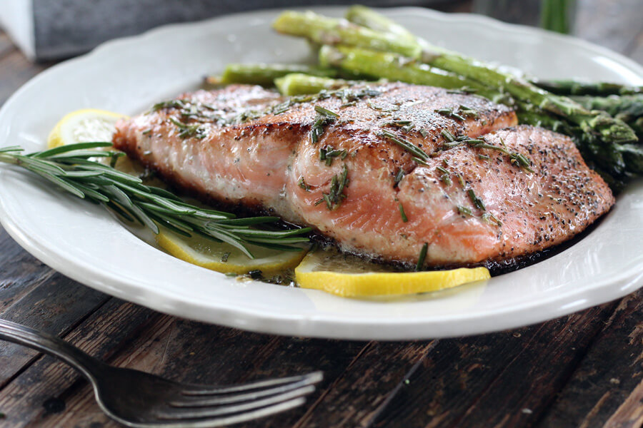 Pan Seared Salmon + Herbed Butter Sauce | Buy This Cook That