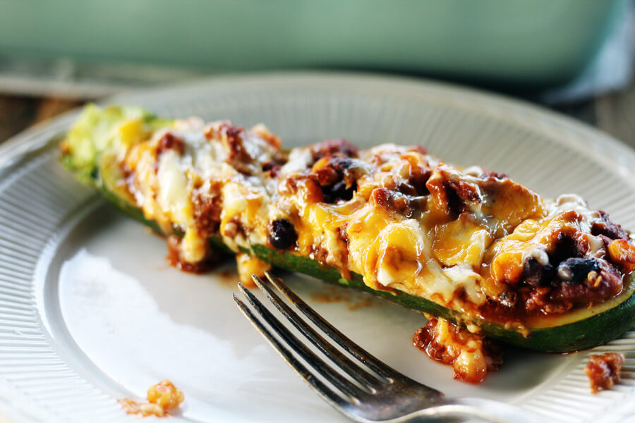 Cheesy (and Easy) Stuffed Zucchini | Buy This Cook That