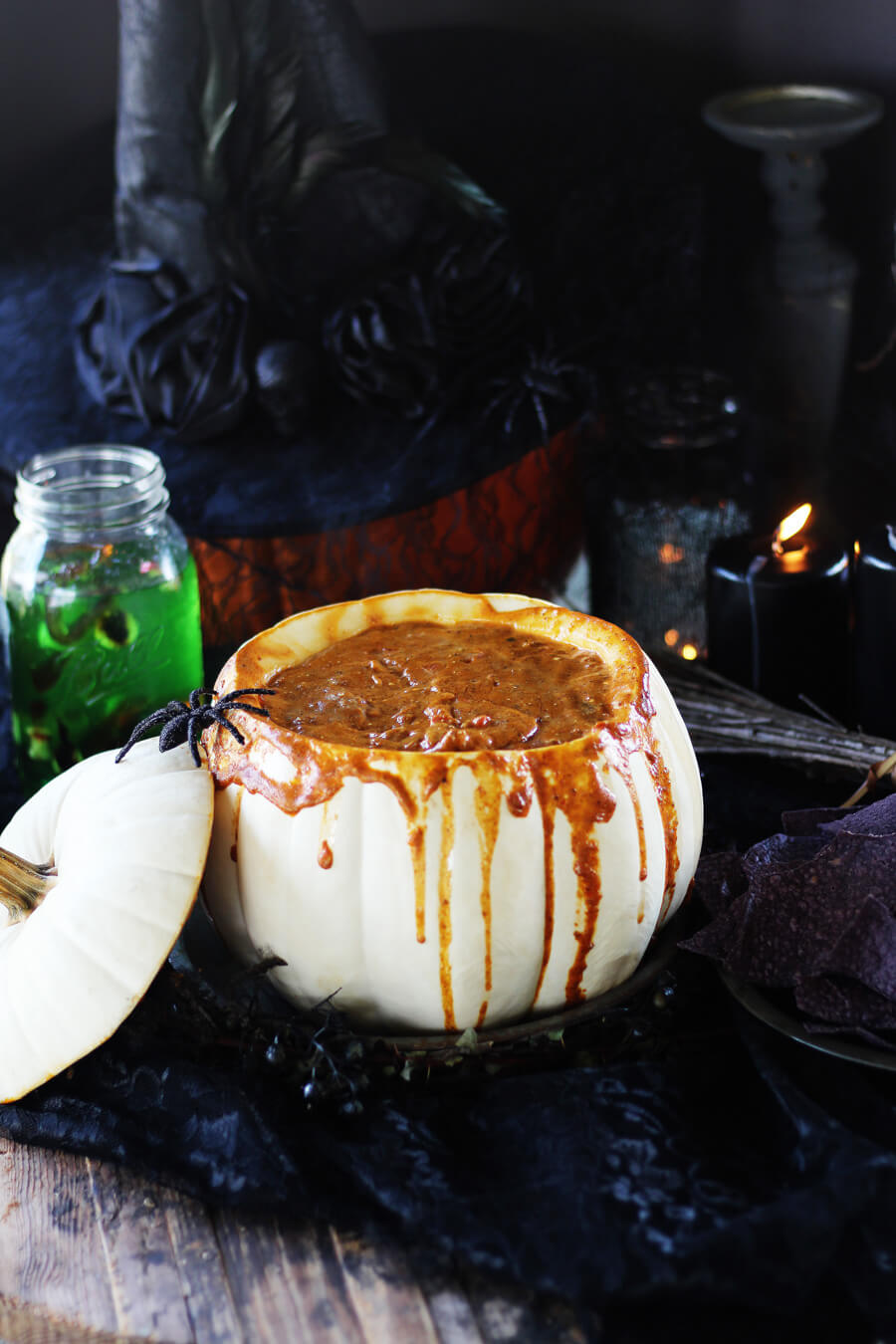 Halloween Chili Cheese RO*TEL Dip | Buy This Cook That - Halloween Chili Cheese RO*TEL Dip is chip after chip-ful of spicy-cheesy goodness that I cannot resist.