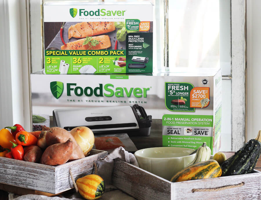 Use your FoodSaver® to store your veggies for the winter.