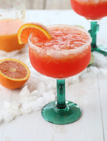 A citrus margarita on the rocks