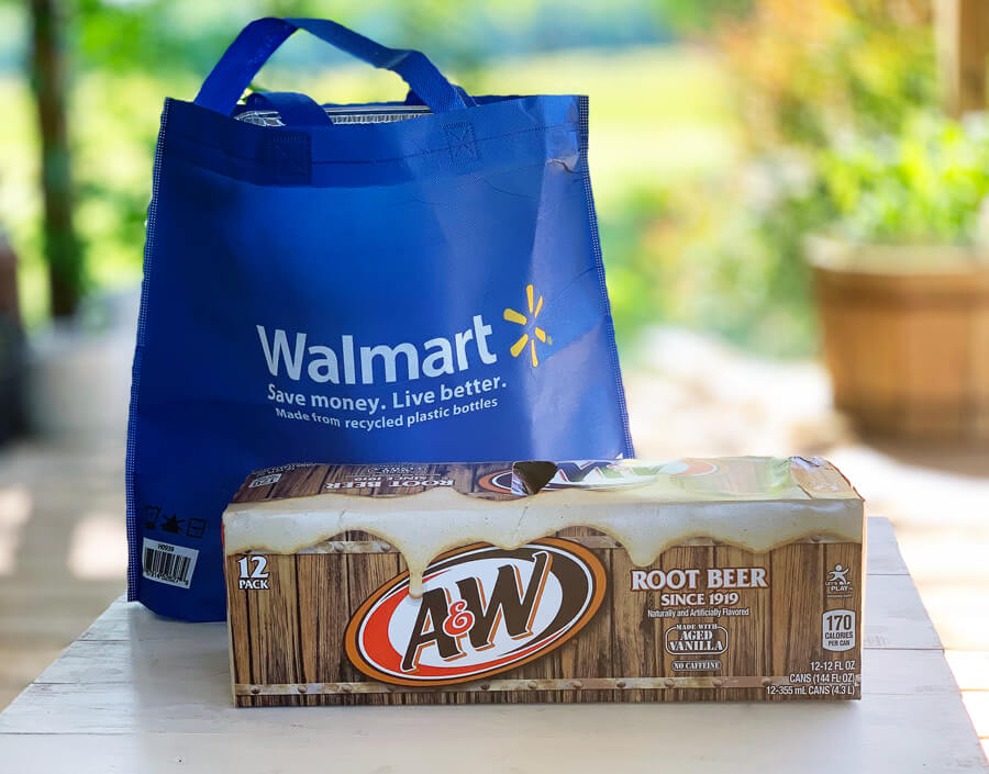 A 12 pack of A&W Root Beer from Walmart
