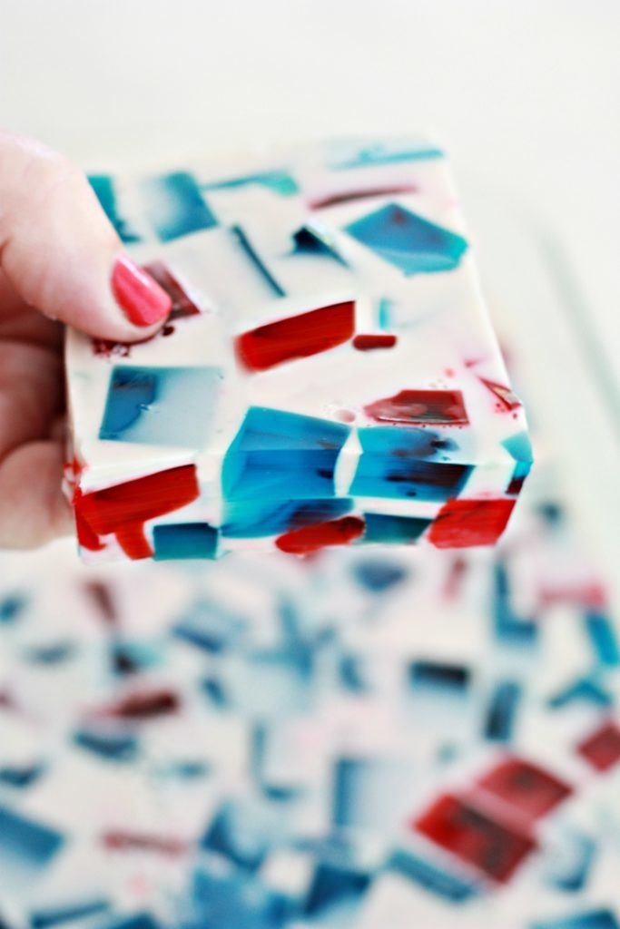 Red White and Blue Stained Glass Jello